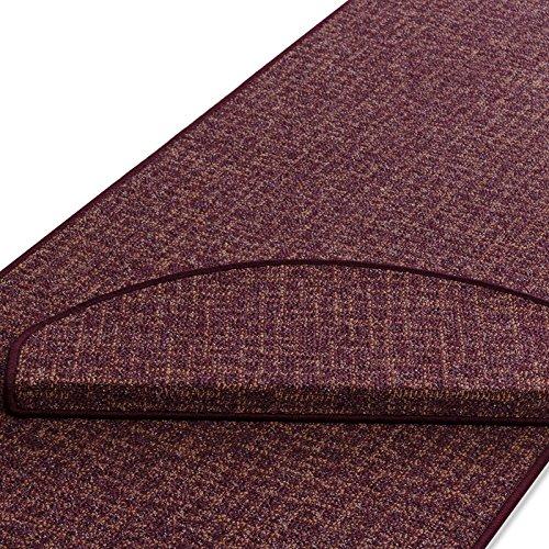 Stufenmatte | rot gekästeltes Muster | Qualitätsprodukt aus Deutschland | GUT Siegel | kombinierbar mit Läufer | 65x23,5 cm | halbrund | einzelne Matte