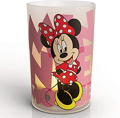 Minnie Mouse Table Lamp Glass