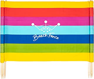 Beach Colors 20 ft Beach Windscreen, Privacy Screen, Wind Blocker, with Mallet and Carry Bag
