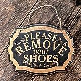 Please Remove Your Shoes - Black Door Sign