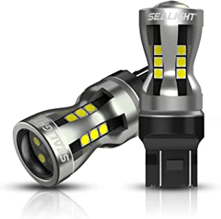 SEALIGHT 7440 7443 LED Bulbs, 6000K Bright White 3000LM for 7441 992 T20 W21W 7444 LED Replacement Bulbs for Backup Revers...