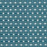 Baumwollstoff Cretonne kleine grafische Sterne – petrol