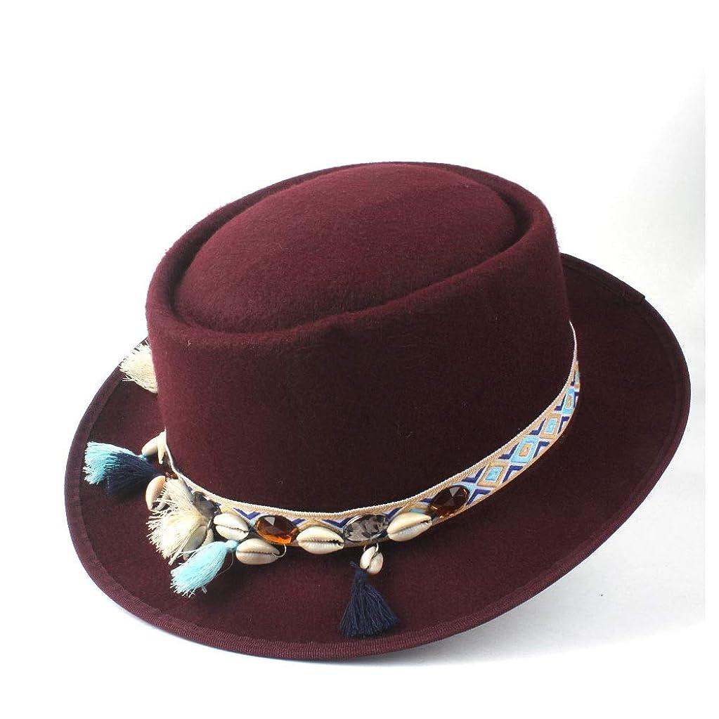 あいにくボード個性LinXin Du ファッション女性冬ポークパイ帽子屋外旅行カジュアル野生帽子ポークパイ教会魅惑的な帽子フラット帽子サイズ58センチ