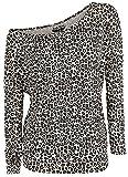 Rock Rebel by EMP Fast and Loose Mujer Camiseta Manga Larga Leopardo M, 95% Viscosa, 5% elastán, Ancho