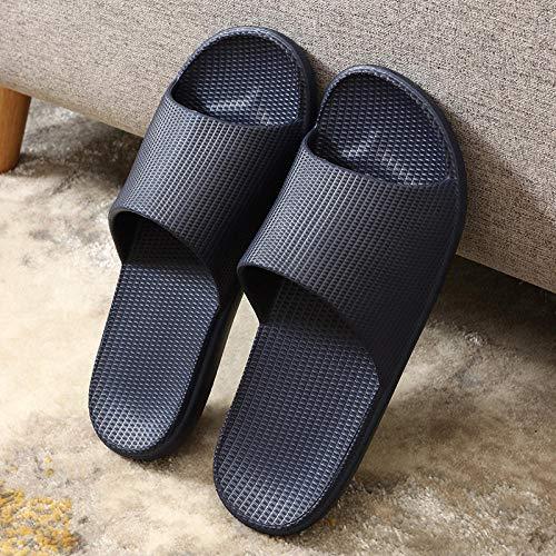quming Sandalias Zapatillas Zapatos de Ducha,Zapatillas de casa para Hombres y Mujeres, Zapatillas de baño Antideslizantes ultraligeras-Azul Oscuro_44 / 45