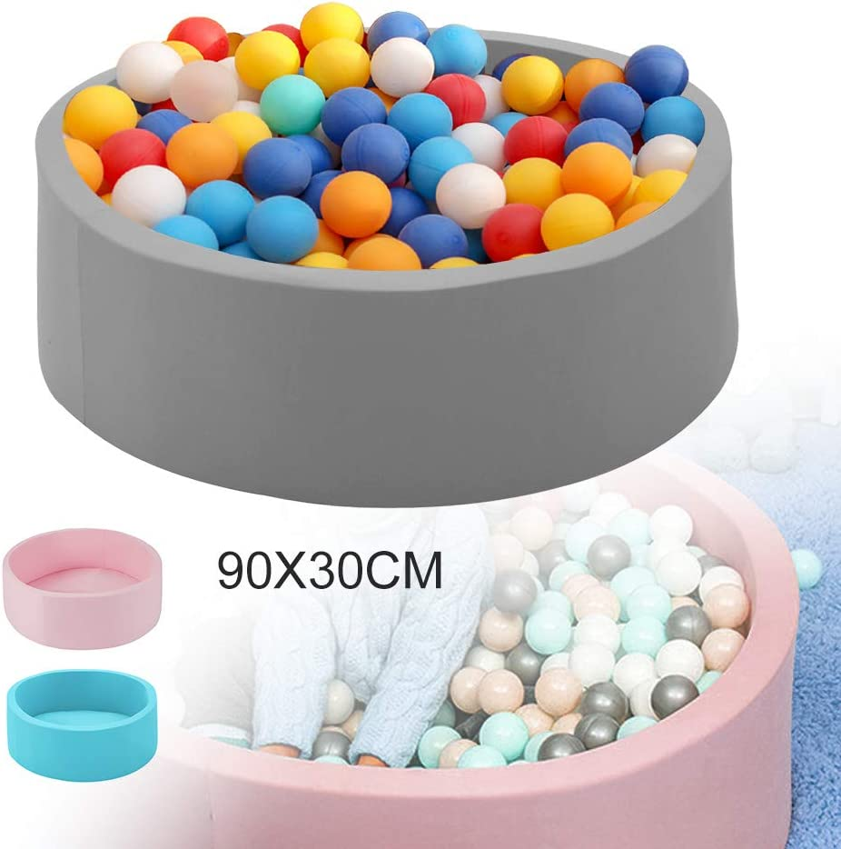 Shoze Ball Pit Round Foam Soft Balls Pit for Baby Ball Pool Outdoor Indoor Nursery Baby Playpen for Toddler Boys Girls Blue