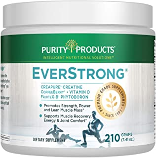 EverStrong Powder - Muscle Matrix Blend | Creapure Creatine | Boron (FruiteX-B PhytoBoron) | CoffeeBerry Extract | Boosted...