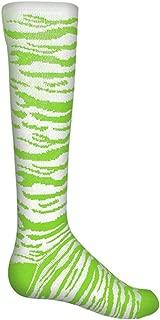 Red Lion Safari Knee-high Sock (White/Neon Green - Small)