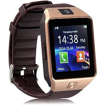 Hanguang - Reloj inteligente para hombre y mujer, para Android Smartwatch con vibración, SMS y llamadas, Smart Watch táctil, reloj inteligente salud, reloj deportivo y podómetro, seguimiento de sueño: Amazon.es: Electrónica