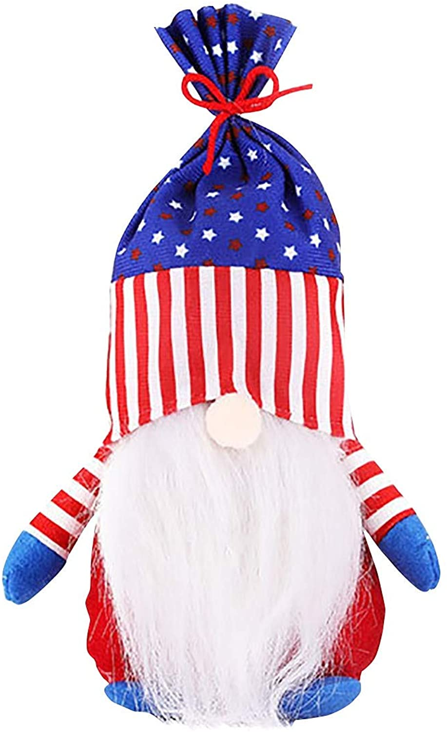 XWXW 3 Pieces of Seattle Mall Arlington Mall Patriotic Gnome Faceless Decor Day Independence