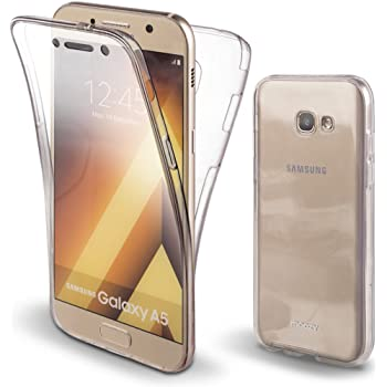 Moozy Funda 360 Grados para Samsung A5 2017 Transparente Silicona ...
