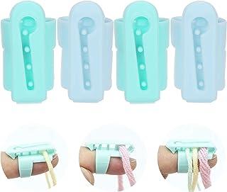4 pièces dé à tricoter, porte-doigt de guide de fil, guide de fil en plastique fils séparés outils pour crochet à tricoter...