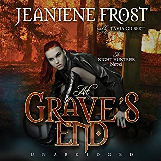 At Grave's End     Night Huntress, Book 3              Written by:                                                                                                                                 Jeaniene Frost                               Narrated by:                                                                                                                                 Tavia Gilbert                      Length: 9 hrs and 26 mins     21 ratings     Overall 4.7