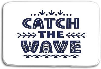 vbndgfhjd Doormat Indoor Outdoor Vector Lettering Catch Wave Made ...