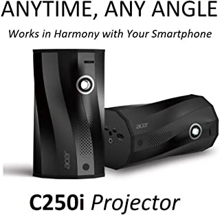 Acer C250i Anytime, Any Angle Full HD Projector with Auto Portrait Projection, Any Angle Projection, Built-in Wireless Projection, Built-in Battery & Bluetooth Speaker