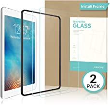 AINOPE 2 PACK iPad 9.7 6th Generation Screen Protector,EASY INSTALL FRAME Tempered Glass Screen Protector for iPad Pro 9.7 -Apple Pencil Compatible with/HD/Anti-scratch