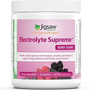Jigsaw Health - Electrolyte Supreme Powder Drink Mix - Mixed Berry Flavor - Broad Spectrum of Electrolytes + Trace Mineral...