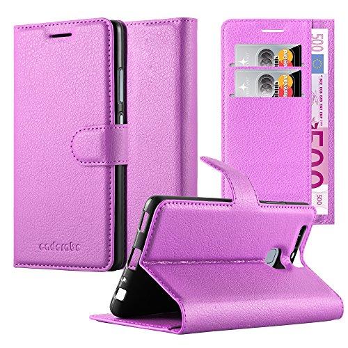 Cadorabo Custodia Libro per Huawei P9 in Violetta Ametista - con Vani di Carte, Funzione Stand e Chiusura Magnetica - Portafoglio Cover Case Wallet Book Etui Protezione