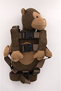 Berhapy 2 in 1 Monkey Toddler Safety Harness Backpack Children's Walking Leash Strap (Pearl Monkey)
