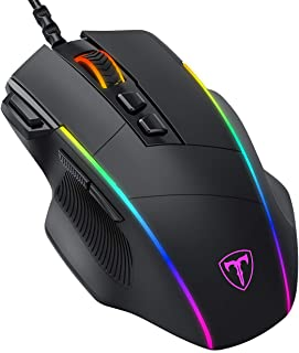 Gihokod Ergonomic Wired Gaming Mouse, 8 Programmable Buttons , 5 Levels Adjustable DPI up to 8000, Wired Computer Gaming M...
