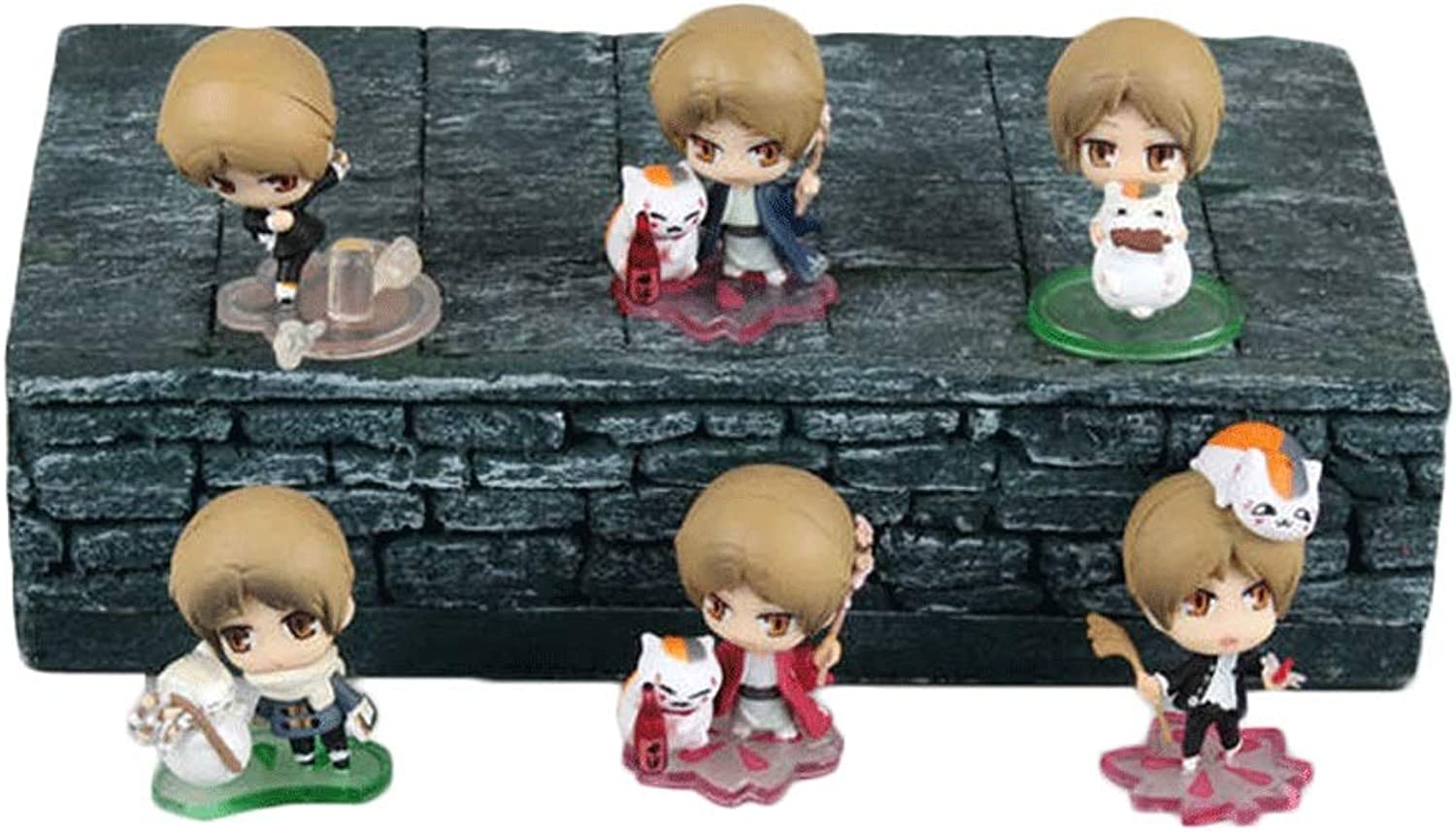 Natsume Friend Account 6 Q Versions Seasons Natsume Takashi Cat Teacher Action Figure About 1.5 Inches High