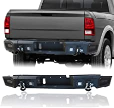 Hunter Dodge Black Textured Rear Bumper Black Texture with 4 x 18W LED Lights for 13-18 Dodge RAM 1500