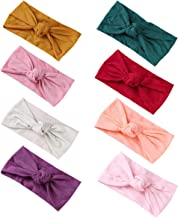 Baby Nylon Elastic Knotted Headbands Baby Head Wraps Baby Bling Bows