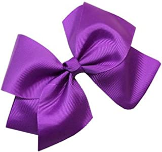 Beautiful Handmade Variety of Bright Colors Grosgrain Ribbon Bows with and without lace closing with Alligator Clip