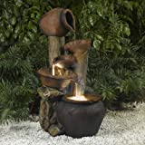 Tree Pot Outdoor-Indoor Fountain with Illumination