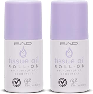 EAD Tissue Oil Roll-On Antiperspirant Lavender 50ml with Vitamin A & E for Scars, Uneven Skin Tone, Excessive Sweating, Ir...