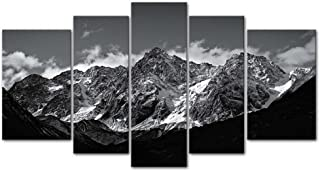 Canvas Wall Art Paintings for Home Decor Black and White Landscape Picture 5 Pieces..