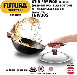 Hawkins Futura nonstick Stir-Fry Wok (with stainless steel lid) 3 L, 28 cm, 3.25 mm