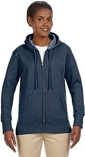 Econscious EC4580 Ladies 7 oz. Organic/Recycled Heathered Fleece Full-Zip Hood