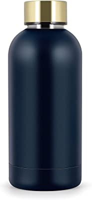 Stainless Steel Thermos Cup Triple-Layered Vacuum Insulated Bottle for Travel Sports, Drinks Water Bottle, 13.5 Oz, Navy
