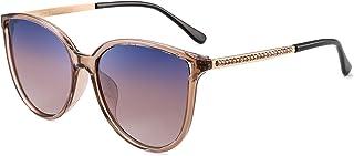 8ec1d1b01c JIM HALO Ojos de Gato Polarizadas Gafas de Sol Para Mujer Vintage Redondas  Oversized Anteojos