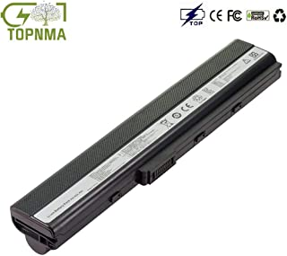 Topnma® Standard Serie A32-K52 Batería para ASUS A52F A52J A52N B53 K42 K52 K52DR K52J K52JK K62 X52 X52D X52F X62 Ordenador (6 Celdas 4400mAh 10.8V) Notebook Computer Battery