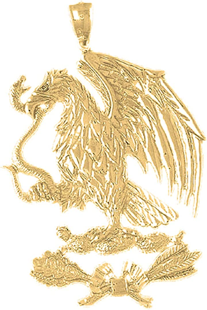 Jewels Obsession 14K Yellow Gold - Pendant Eagle mm Brand new Finally resale start 88