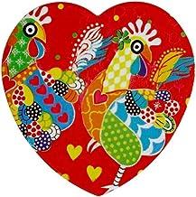 Maxwell & Williams Love Hearts Ceramic Heart Coaster 10cm Chicken Dance
