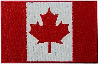 Canada Flag Embroidered Patch Canadian Maple Leaf Embroidered Fastener Hook & Loop Emblem
