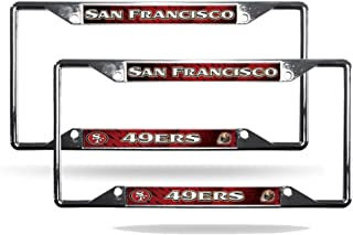Rico San Francisco 49ers NFL Chrome (2) EZ View License Plate Frame Set