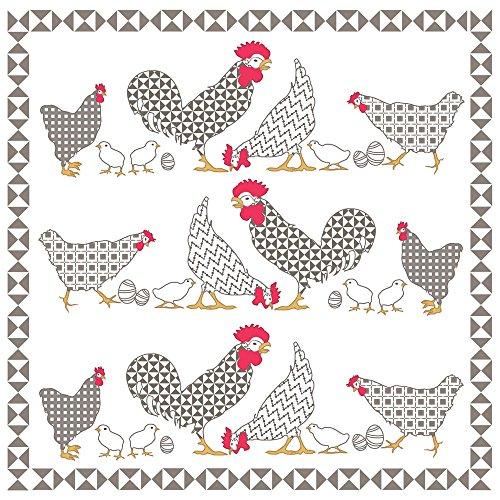 20 Servietten Hühnerfamilie / Tiere / Tiermotiv / Ostern 33x33cm
