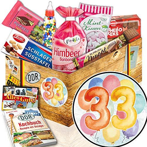 33. Geburtstag Geschenk / Süßes Ostpaket / Geschenke zum 33. Geburtstag Frau