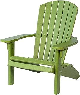 Poly Fan-Back Adirondack Chair, Lime Green