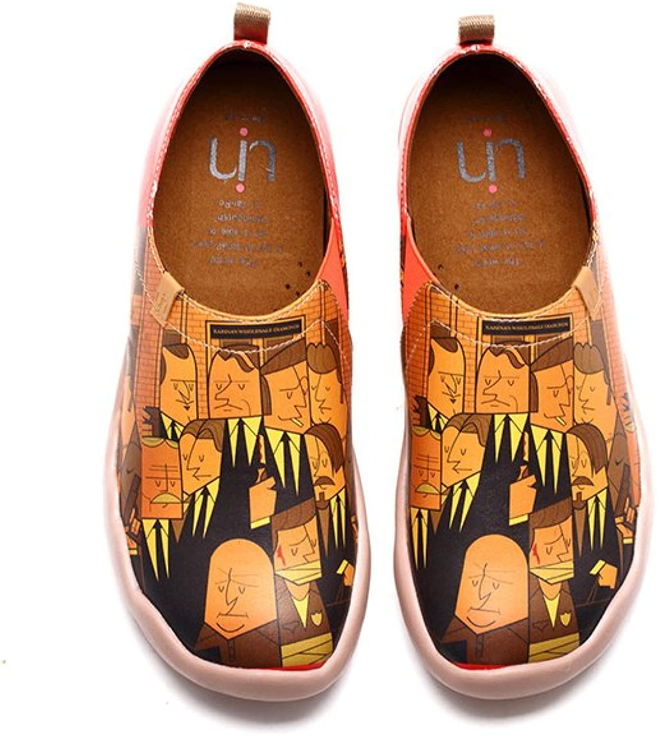 UIN Men's Nightfall Thief Leather Painted Loafer shoes Yellow
