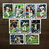 2021 Topps Series 1 Baseball Seattle Mariners Base MLB Hand Collated Team Set in Near Mint to Mint Condition of 9 Cards: 6 Justus Sheffield - 42 Kyle Lewis R... rookie card picture