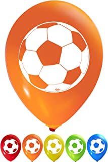 Soccer Ball Balloons - 12 Inch Latex - 2 Sided Print (16 Count) for Birthday Parties or Any Other Event Use - Fill with Air or Helium