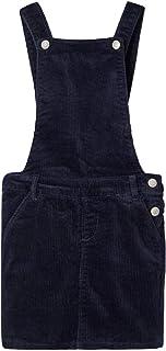 NKFANICKA Cord BIBSKIRT - Mono de Terciopelo para niña, Color Azul