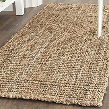 Safavieh Natural Fiber Collection NF447A Hand Woven Natural Jute Runner (2'6  x 4')