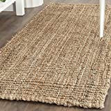 Safavieh Natural Fiber Collection NF447A Handmade Chunky Textured Premium Jute 0.75-inch Thick Runner, 2'6' x 10' , Natural