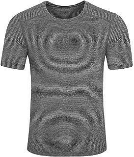 OPAKY Verano de los Hombres Camiseta Casual con Cuello en O ...